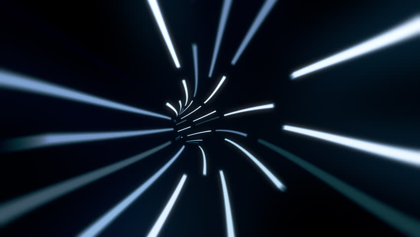 Wormhole tunnel through time and space, neon style.