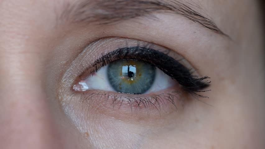 Human Eye Close Up Macro Stock Footage Video 3662468 ...