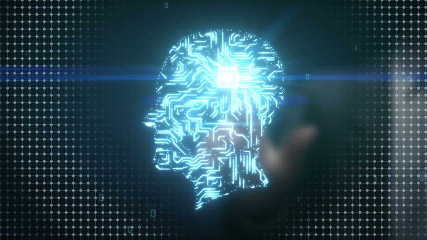 Businessman touching Brain head connect digital lines, expanding artificial intelligence | Shutterstock HD Video #15508954