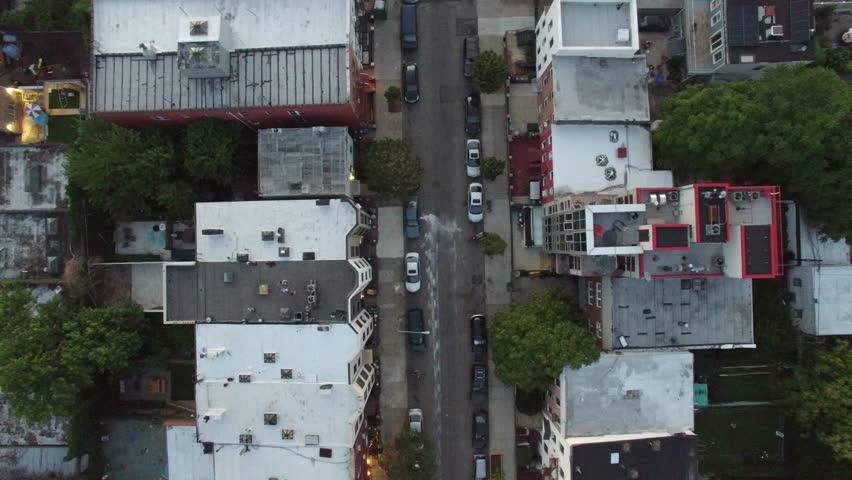 An aerial video of Brooklyn and Manhattan, New York City, 4K UHD at Sunset | Shutterstock HD Video #15529513