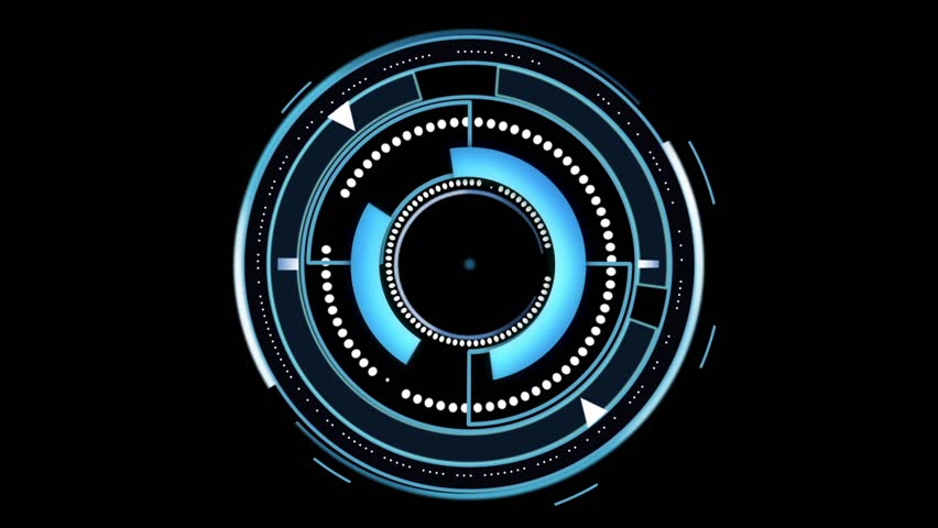 Spinning circles abstract HUD user interface | Shutterstock HD Video #15548257