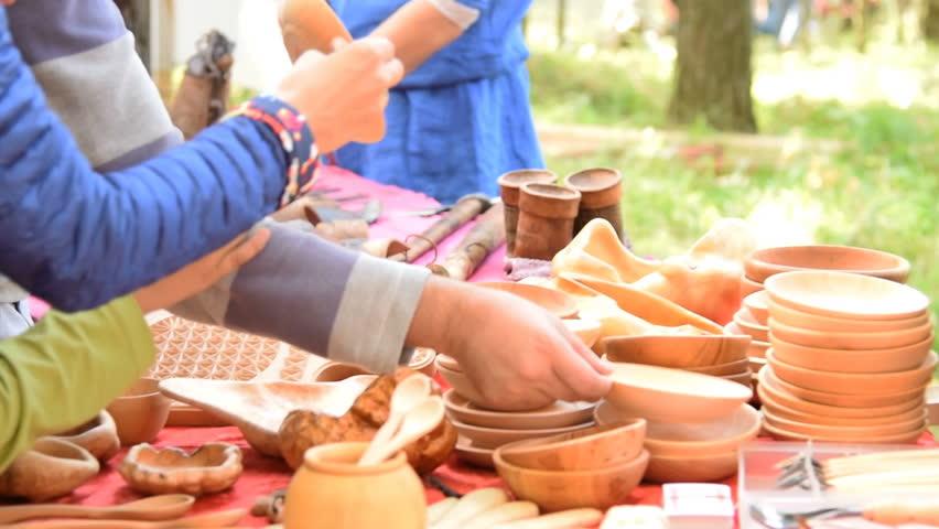 Header of woodenware
