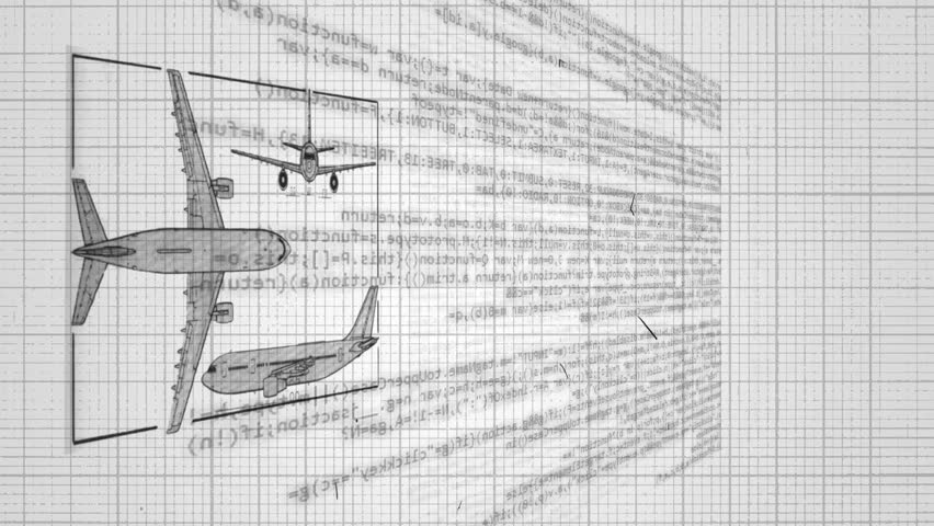 Aircraft technical drawing blueprint time lapse stock footage blueprint of an airplane hd stock footage clip malvernweather Gallery