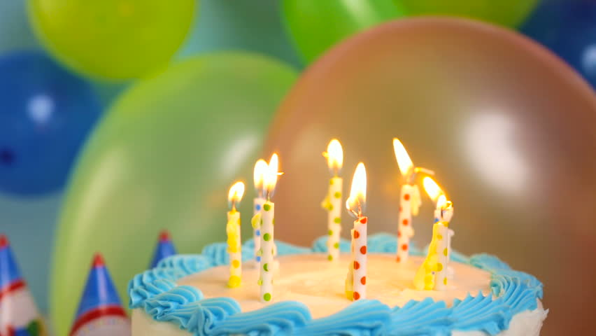 Woman Blowing Out The Candles Stock Footage Video 100 Royalty Free
