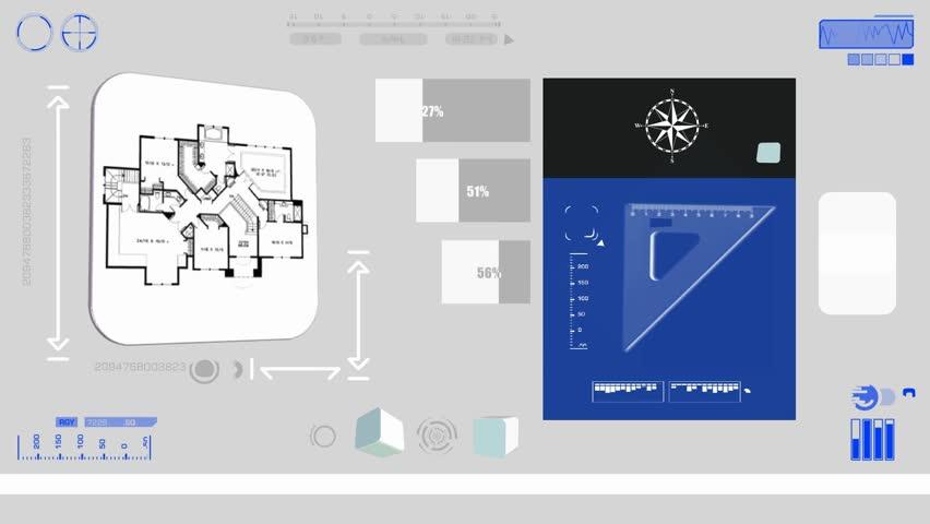 Blueprint scanned by software | Shutterstock HD Video #15645937