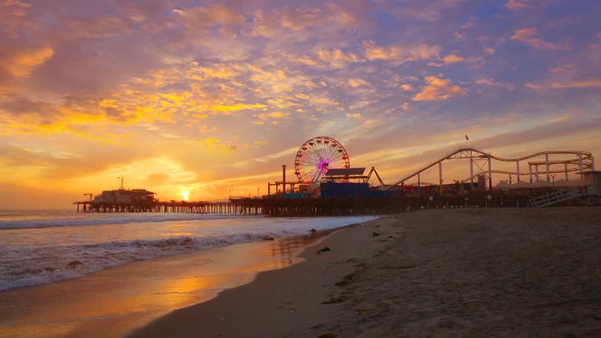 Santa Monica Beach Stock Video Footage 4k And Hd Clips Shutterstock