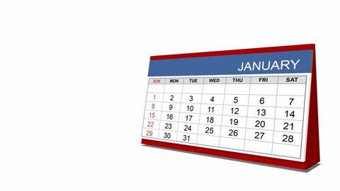 Desk calendar (year 2012), alpha included
