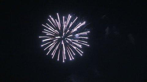 Markham, Ontario, Canada July 2015 Canada day holiday spectacular fireworks display