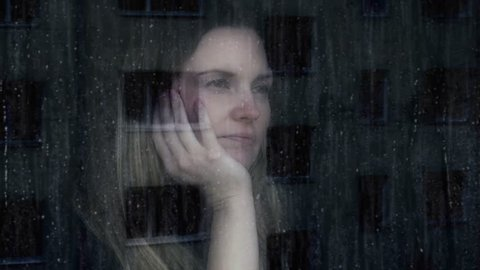 Sad young woman.
