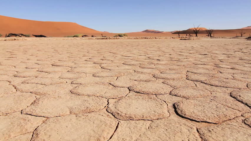 Tracking of Sossusvlei's dried up lake in the Nambian Desert