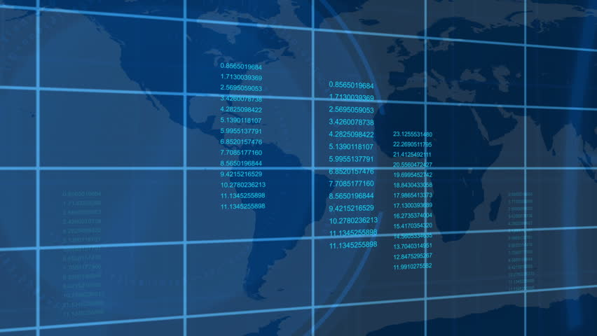 Animated economical data with a map in the background | Shutterstock HD Video #1583989
