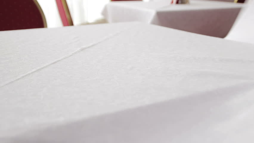 white tablecloth in a restaurant you need to bear the table