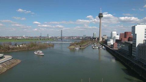 Aerial Flight Duesseldorf  Harbor Düsseldorf Sonne Tag