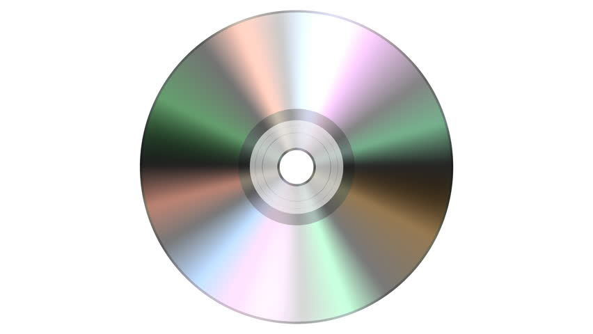 Single disc cd dvd isolated on white background.  looping, animation, loop