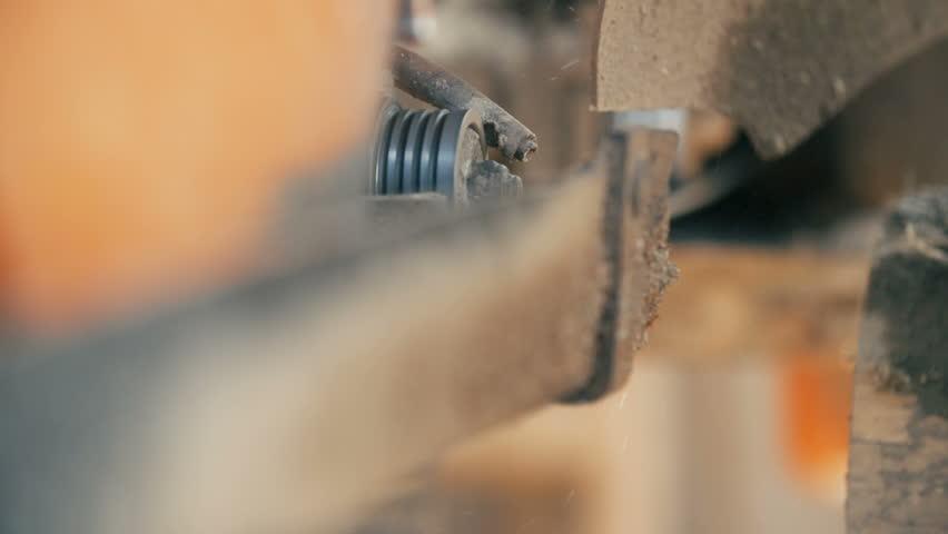 Wood Cutting Machine Board Log Stock Footage Video (100% Royalty-free)  15877429   Shutterstock