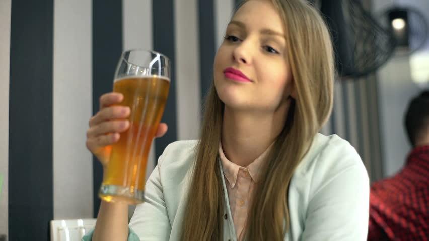 topless beer garder girl