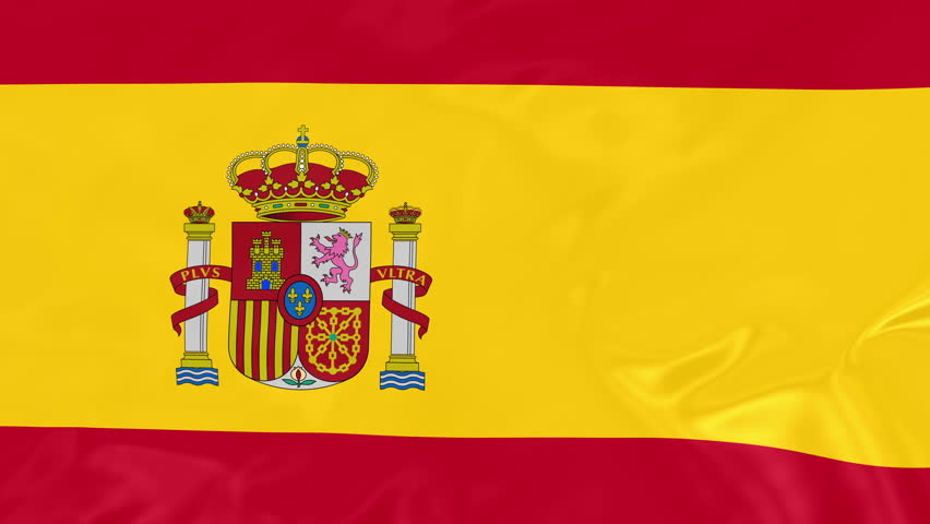 Spanish Flag - 4K Seamless Loop Animation of Waving Flag of Spain