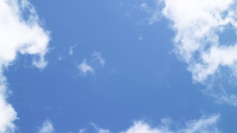 Clouds flowing and blue sky