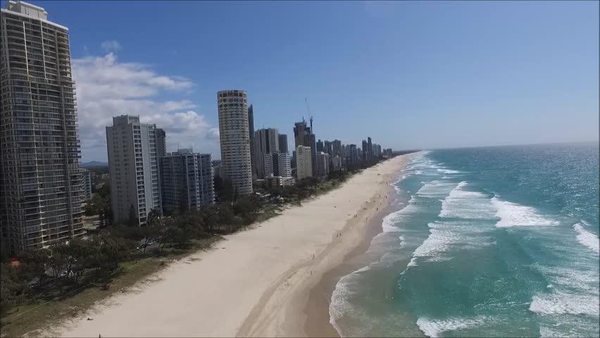 Gold Coast Australia aerial