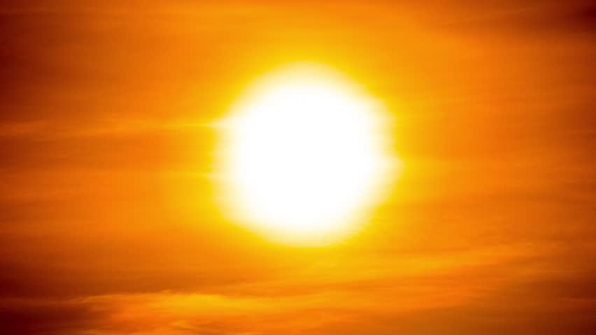 4k Vibrant Colored Vivid Saturated Orange Natural Sunset