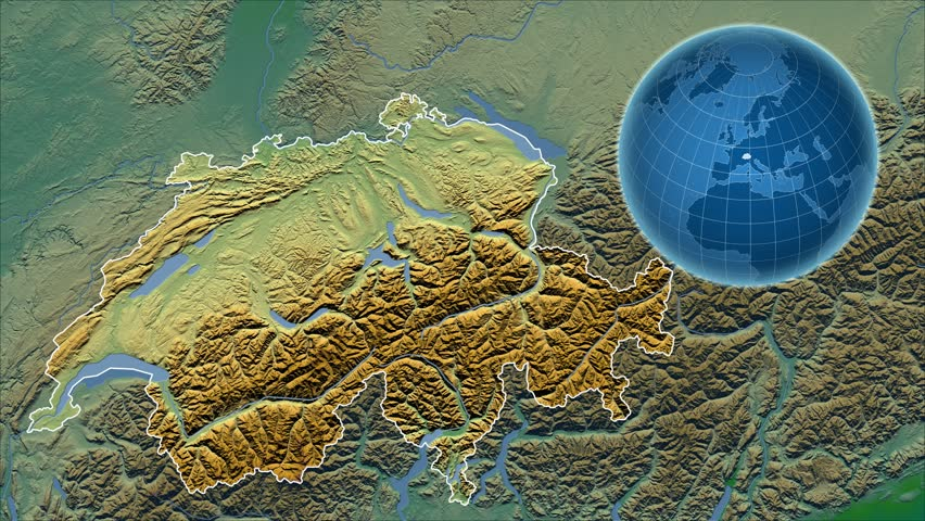 Nepal Shape Animated On The Physical Map Of The Globe Stock Footage