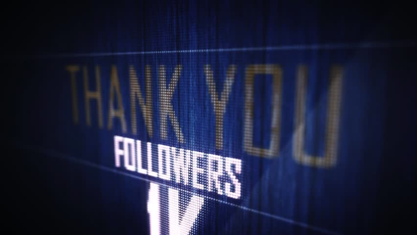 Thank you followers 1 k. | Shutterstock HD Video #16239442