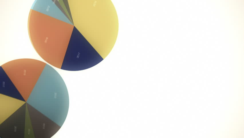 Falling Pie Charts (with Copy Space)   Shutterstock HD Video #1626910