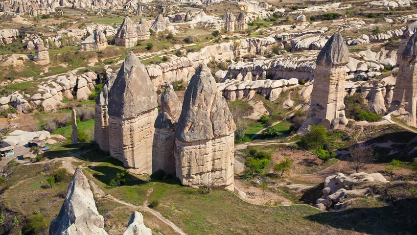Amazing shapes in sandstone canyon near famous Goreme village, Cappadocia, district of Nevsehir Province of Turkey, Asia. Full HD video (High Definition). Exported from RAW file. | Shutterstock HD Video #16273879