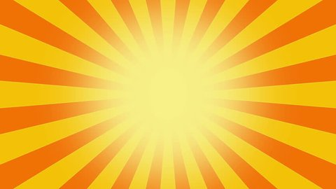 Yellow Burst vector background. Cartoon sun light over Orange sky Background with space for your logo or title, Nice sunburst vintage style sun - Retro Pattern. circuses Background. seamless loop