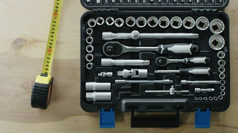 toolbox with varity of box spanner