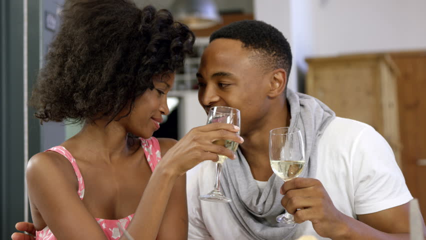 Image result for couple drinking wine african american
