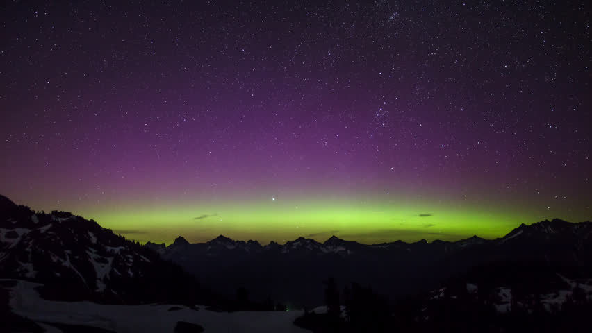 Loopable timelapse view of Aurora Borealis near Seattle, Washington | Shutterstock HD Video #16321369