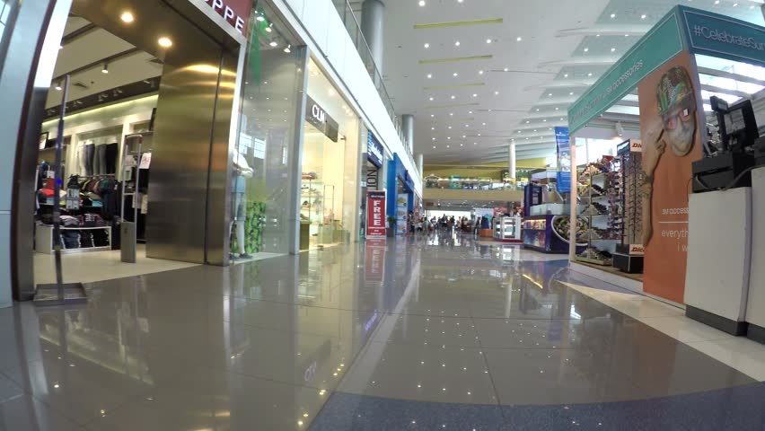 SAN PABLO CITY, LAGUNA, PHILIPPINES - APRIL 29, 2016: array of Modern indoor shopping mall boutique stalls. tracking shot   Shutterstock HD Video #16324384