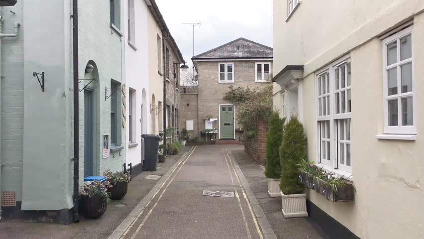 An alleyway in an english town    Shutterstock HD Video #16383499