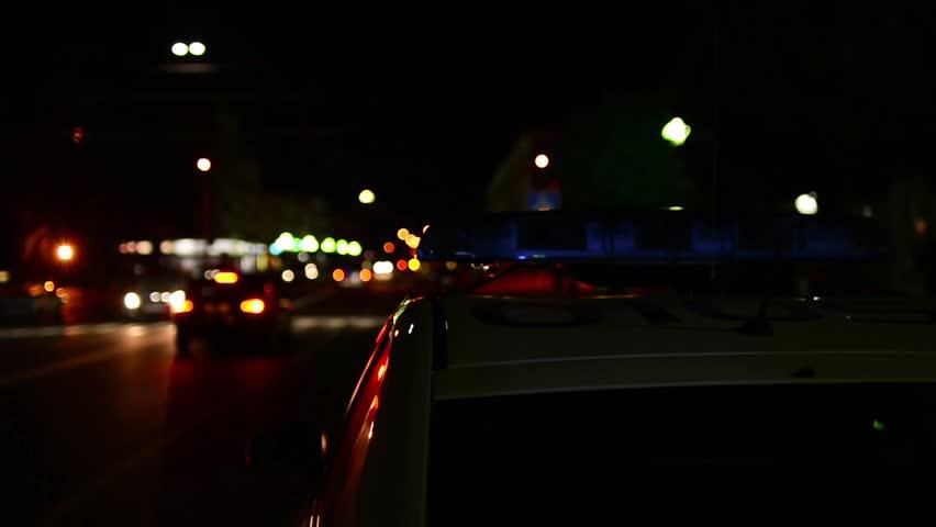 Police Lights Siren in the Night City. Emergency siren Background | Shutterstock HD Video #16387969