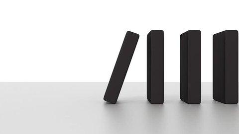 Falling domino animation