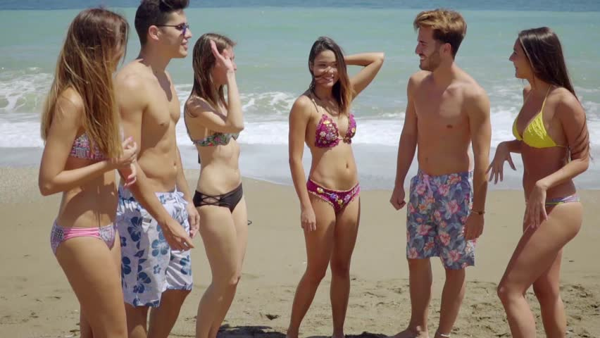 Group Of Friends In Swim Stock Footage Video 100 Royalty -7570