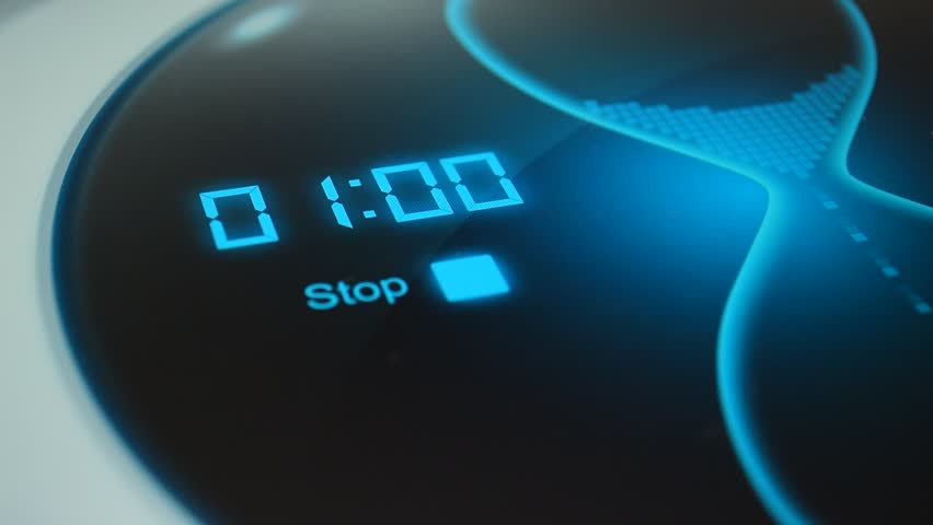 The timer for 1 minute. Digital timer, countdown 60 seconds. Blue electronic timer with hourglass. Digital stopwatch | Shutterstock HD Video #16442989