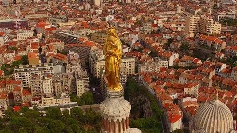 Marseilles Church Drone footage