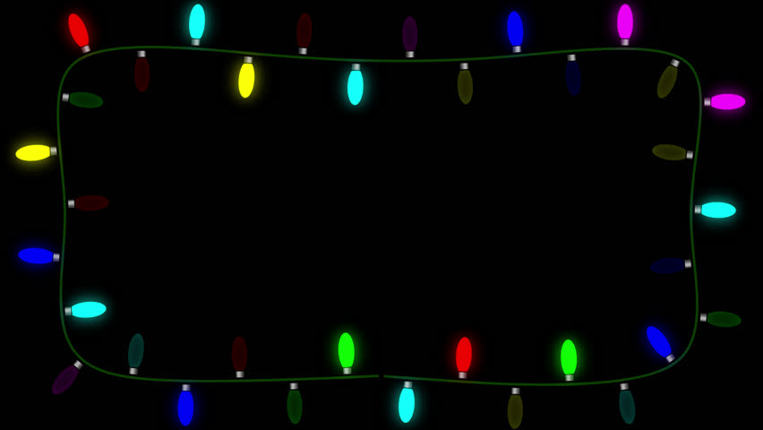 blinking christmas lights on an alpha channel allow the user to place the lights on any - Christmas Lights Video