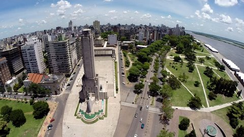 Rosario Argentina Flag Memorial and Cathedral Aerial VIew