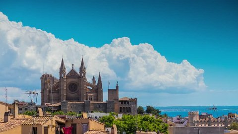 Timelapse: Panorama of Palma de Mallorca. Palma is capital and largest city of autonomous community of Balearic Islands in Spain. It is situated on south coast of Majorca on Bay of Palma.