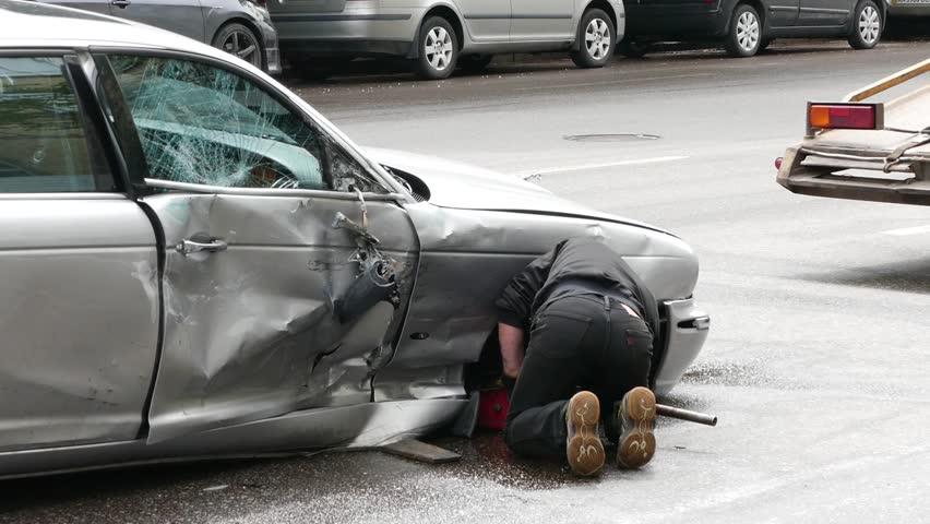 Road Accident. Car Crash. Broken Car. Stock Footage Video 2075246 ...