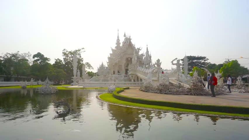 Wat Rong Khun(White Temple), Chiang Rai province, Thailand  | Shutterstock HD Video #16738399