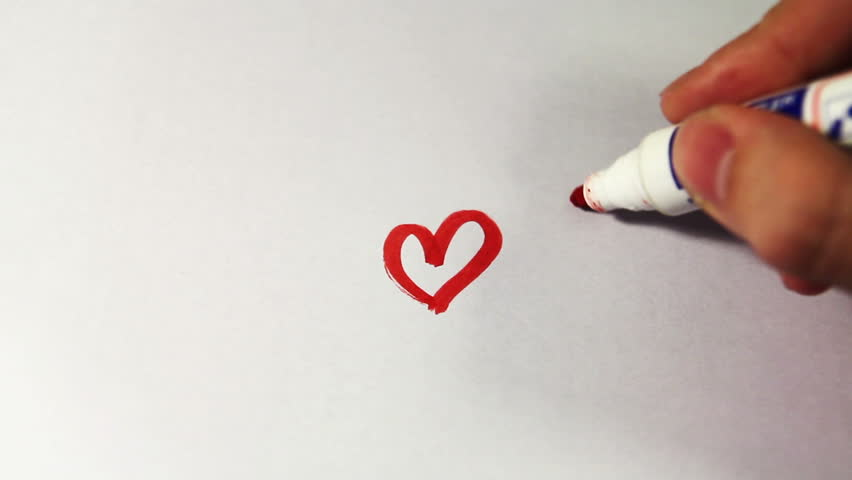 Drawing heart. Excellent for  declaration of love.
