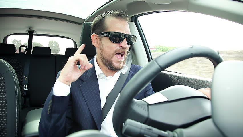 Happy Cool Business Man With Sun Glasses Dancing In Car Stock Footage Video  16780519 | Shutterstock
