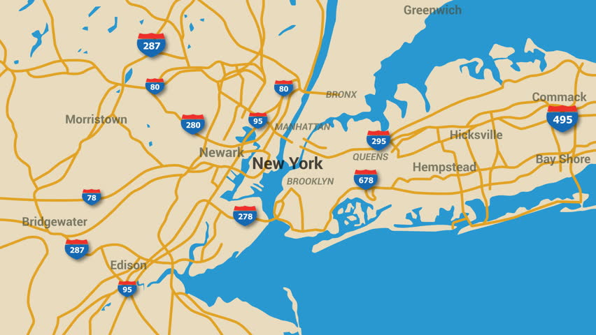 Map Of 287 New York.New York Map Animation 4k Stock Footage Video 100 Royalty Free 16790449 Shutterstock