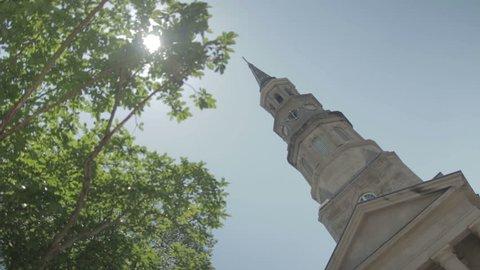The yard of St Philip's church in Charleston, SC. Charleston, South Carolina - USA: July, 2015