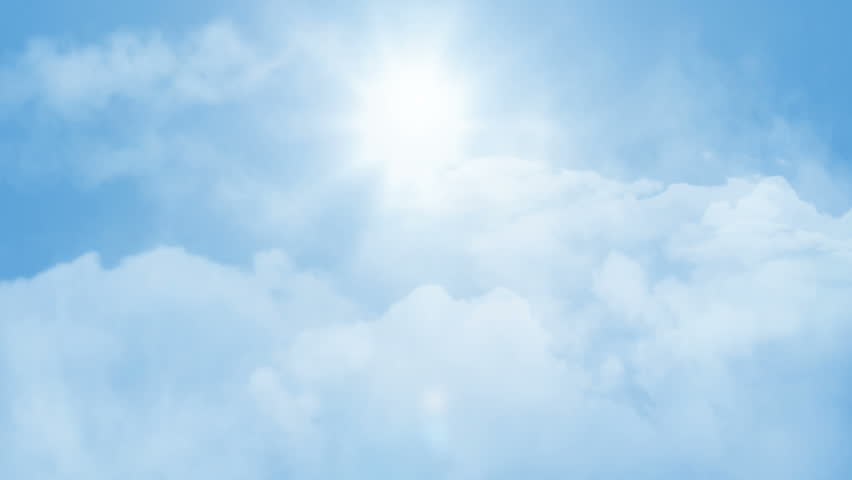Loopable flight through sunny sky 2
