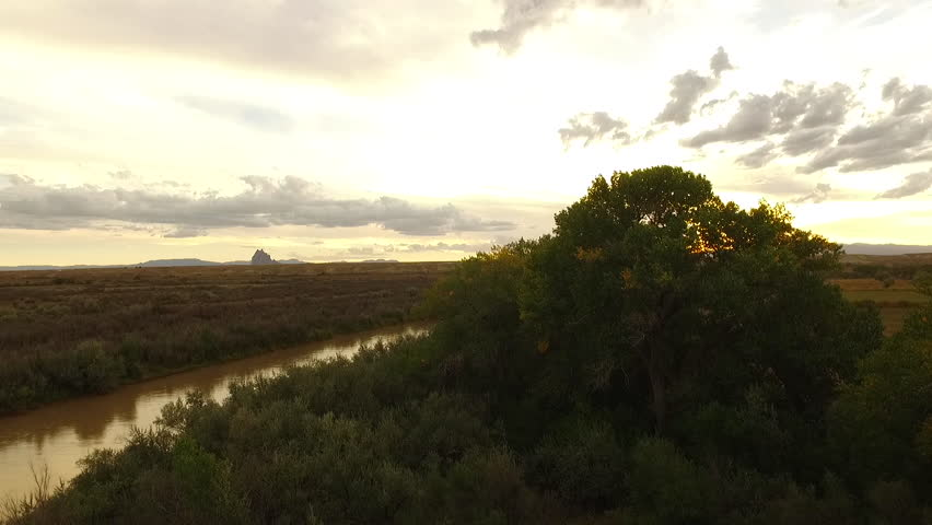 Sunset in the river drone | Shutterstock HD Video #16879675